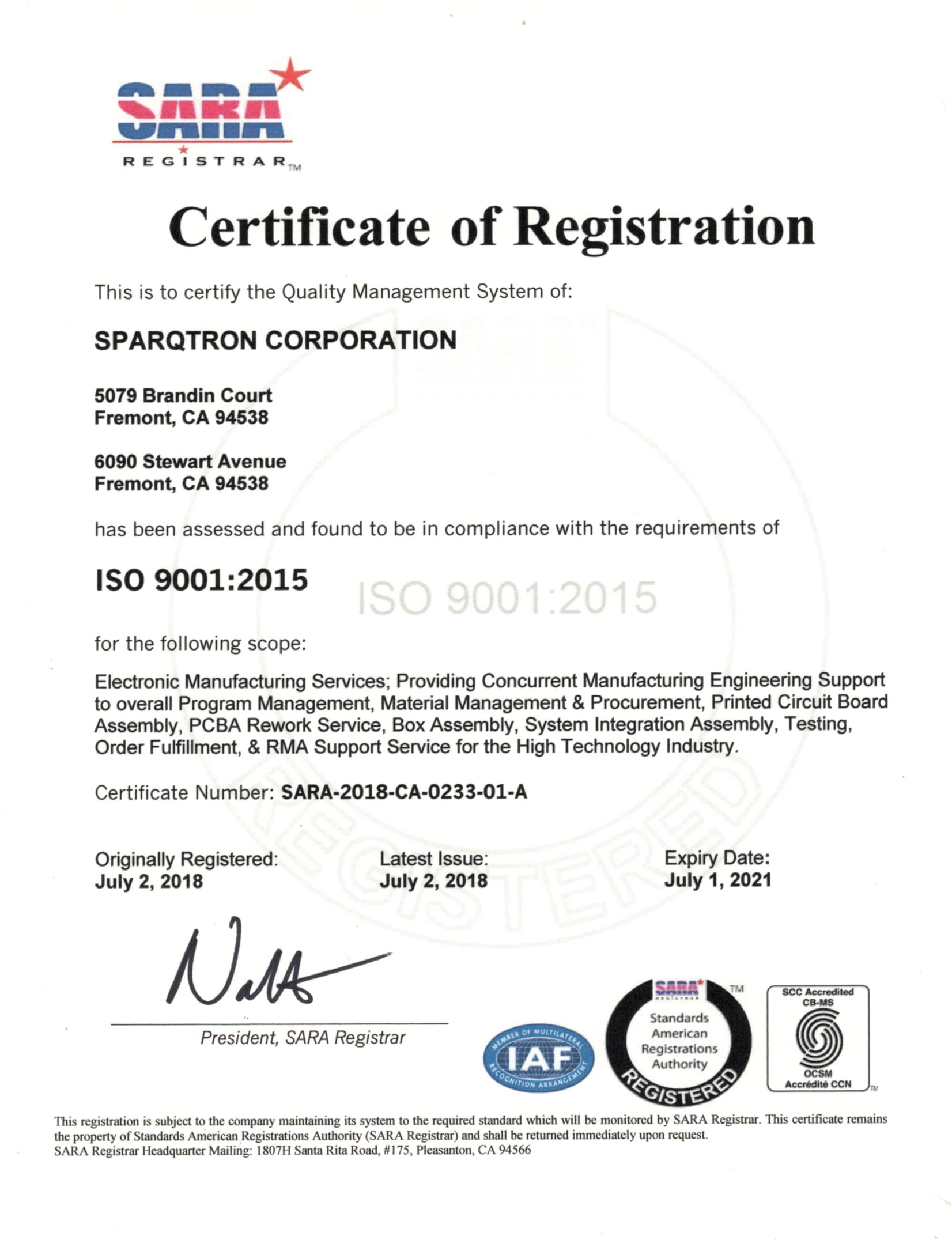 P1-Quality Commitment, ISO 9001 & 13485 Certified